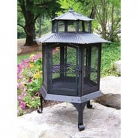 Oakland Living Pagoda Fire Pit - 8041-BK - Fireplaces & Accessories - Decor