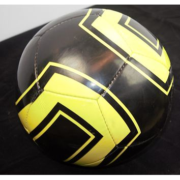 Soccer ball brand color yellow and black