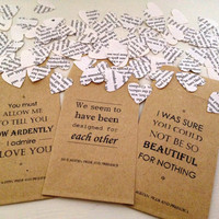Pride and Prejudice Book Confetti for Vintage Wedding Jane Austen