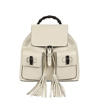 Gucci Bamboo Leather Backpack 370833 6525 Ivory