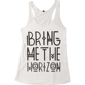 Bring Me The Horizon Women's  Tribal Logo Womens Tank White