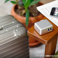 Now Match your Trunk Style with our New Charging Adapter !! Hamee Introduces Stylish Suitcase Style 2USB Port AC Adapter.