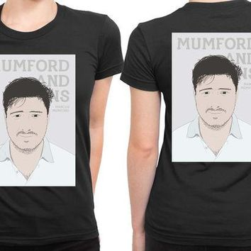 DCCKG72 Mumford And Sons Marcus Mumford Vektorrize 2 Sided Womens T Shirt