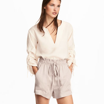 Lyocell-blend Blouse - from H&M