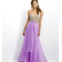 (PRE-ORDER) Blush 2014 Prom Dresses - Orchid Chiffon Strapless Sweetheart Prom Gown