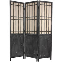 Oriental Furniture AM-SCRN5 Six Ft. Tall Vintage Lattice Room Divider, Width - 17.25 Inches