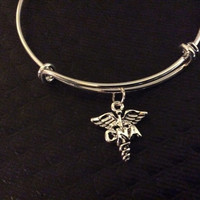 CNA Charm on a Silver Bangle /Certified Nursing Assistant / Alex and Ani Inspired / Gift / AAA Quality Material / Gift