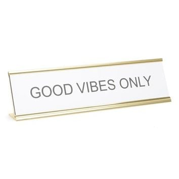 He Said, She Said 'Good Vibes Only' Desk Sign | Nordstrom