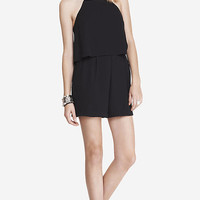 DOUBLE LAYER CAMI ROMPER - BLACK from EXPRESS