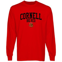 Cornell Big Red Team Arch Long Sleeve T-Shirt - Carnelian