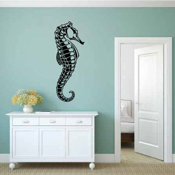 Ocean Seahorse Vinyl Wall Decal Sticker Graphic
