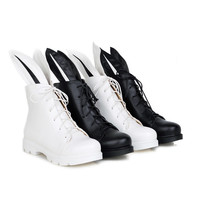 Rabbit Ear Lace Up Ankle Boots Women Shoes Fall|Winter 6691
