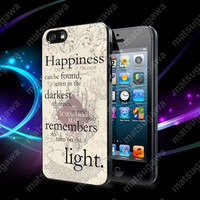 happiness quote harry potter Case For iPhone 5, 5S, 5C, 4, 4S and Samsung Galaxy S3, S4