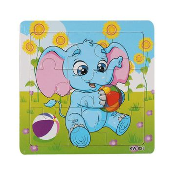 Free Shipping Wooden Elephant Jigsaw Toys For Kids Education And Learning Blocks Toys WOOD HOUSE Educational Toy Christmas Gift