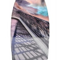 Mary Katrantzou Printed Pencil Skirt - Knee Length Skirt - ShopBAZAAR