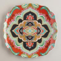 Orange Paisley Antigua Plates, Set of 2 | World Market