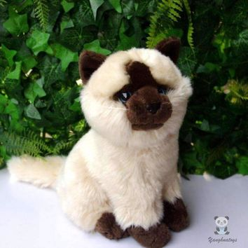 Siamese Cat Stuffed Animal Plush Toy 8""