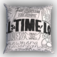 All Time Low Quotes Zippered Pillows  Covers 16x16, 18x18, 20x20 Inches