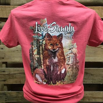 Backwoods Born & Raised Live Simply Fox Unisex Bright T Shirt
