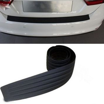 Car Trunk Door Sill Plate Rear Bumper Guard Protector Rubber Pad Trim Cover Auto Bumper Edge Prevent Scratches