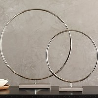 Nickel Ring On a Stand