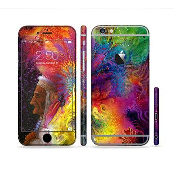The Mixed Neon Paint Sectioned Skin Series for the Apple iPhone 6 Plus
