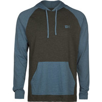 Rvca Graham Mens Lightweight Hoodie Charcoal  In Sizes