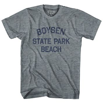 Wyoming Boysen State Park Beach Adult Tri-Blend Vintage T-shirt