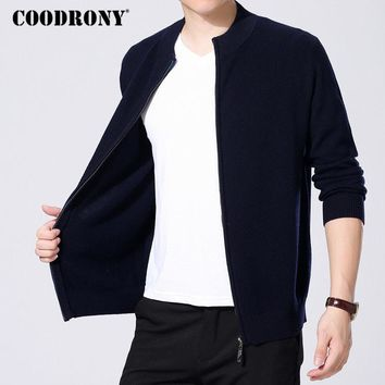 COODRONY Cardigan Masculino Merino Wool Sweater Men Winter Christmas Thick Warm Turtleneck Cardigan Men Cashmere Sweatercoat 326