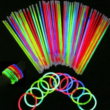 Party Wedding Decal 50 Pcs Glow Sticks Bracelets Necklaces Party Fluorescent Neon Colors Xmas  #mgsu.inc.# = 1932282692