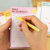 1pcs Kawaii Unique Scrapbooking Daily Schedule Sticker Tab Flags Memo Book Marker Sticky Notes Office Stationery