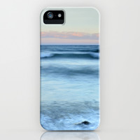 Blue waves iPhone & iPod Case by Guido Montañés