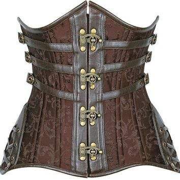 Daisy Corsets Top Drawer CURVY Steampunk Steel Double Boned Under Bust Corset