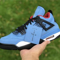 """[ Free Shipping ]T S x A J 4 """"Houston Oilers"""" Basketball Sneaker"""