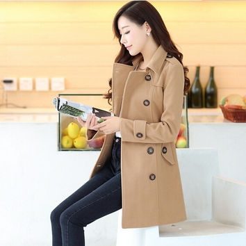 Women Fashion New Style Dress Cloth Long Coat = 1956239044
