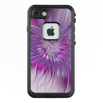 Pink Purple Flower Passion Abstract Fractal Art LifeProof® FRĒ® iPhone 7 Case