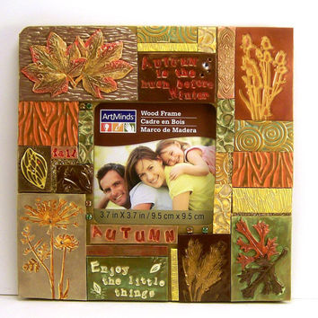 Autumn Mosaic Photo Frame, Home Decor, Mosaic Art, Collage Frame