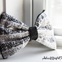 Bring Me The Horizon Hair Bow by AlexsMisfitToys on Etsy