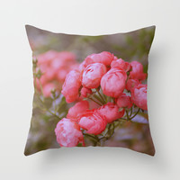vintage roses Throw Pillow by Yumehana Design Fine Art Photography