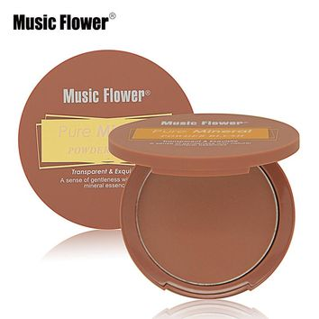 Music Flower Makeup Set Single Color Pure Mineral Powder Blush Cheek Blusher Palette Make Up Baked Bronzer Contour Sleek Texture