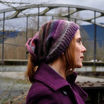 Plum Tree Shape-Shifter: Dread Beanie Hat Scarf
