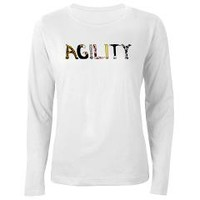 Fuzzy Agility Women's Long Sleeve T-Shirt> Fuzzy Agility> Weasel Puppy's Flyball and Dog Stuff