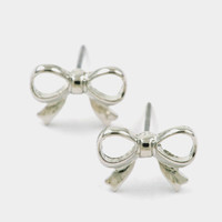 When in Doubt Bow Earrings - Silver