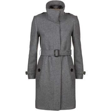 Burberry Technical Wool Cashmere Funnel Neck Coat | Harrods.com