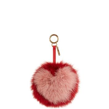 Heart pompom fox-fur charm | Fendi | MATCHESFASHION.COM US