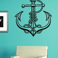 Anchor with Rope Version 6 Quote Design Decal Sticker Wall Vinyl Art Girl Boy Teen Baby