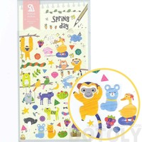 Adorable Illustrated Monkey Chimpanzee Ostrich Weird Animal Shaped Stickers for Scrapbooking
