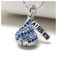 """Say it with a Kiss"" Adorable Candy Kiss Pendant Necklace"