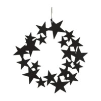 Star Wreath - Decorative Hanging Silhouette