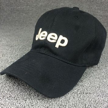 Black Color Jeep Embroidered Baseball Cap Hat